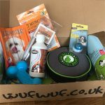 The contents of Emmy's first WufWuf box